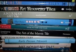 LOT (10) VOLUMES TILES INCL. ART NOUVEAU, AMERICAN,