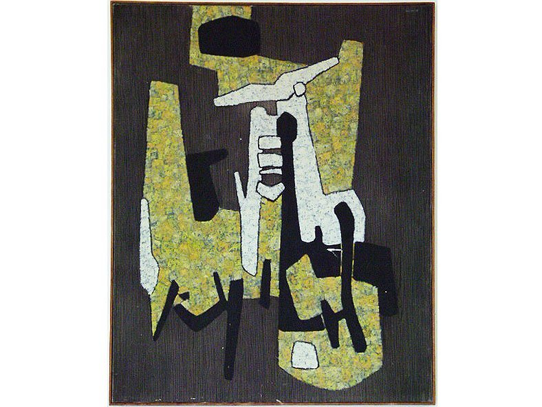 """O/C """"TO BE ABSENT"""" SIGNED HUGO CONSUEGRA 1956"""
