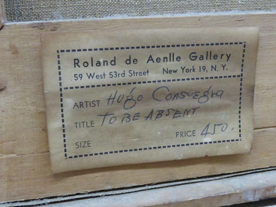 """O/C """"TO BE ABSENT"""" SIGNED HUGO CONSUEGRA 1956 - 4"""