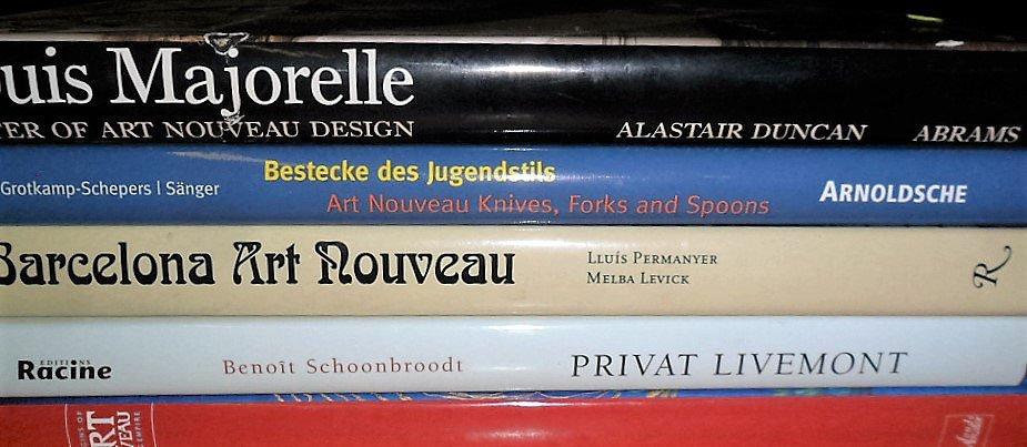 LOT (5) VOLUMES ART NOUVEAU INCL. LOUIS MAJORELLE,
