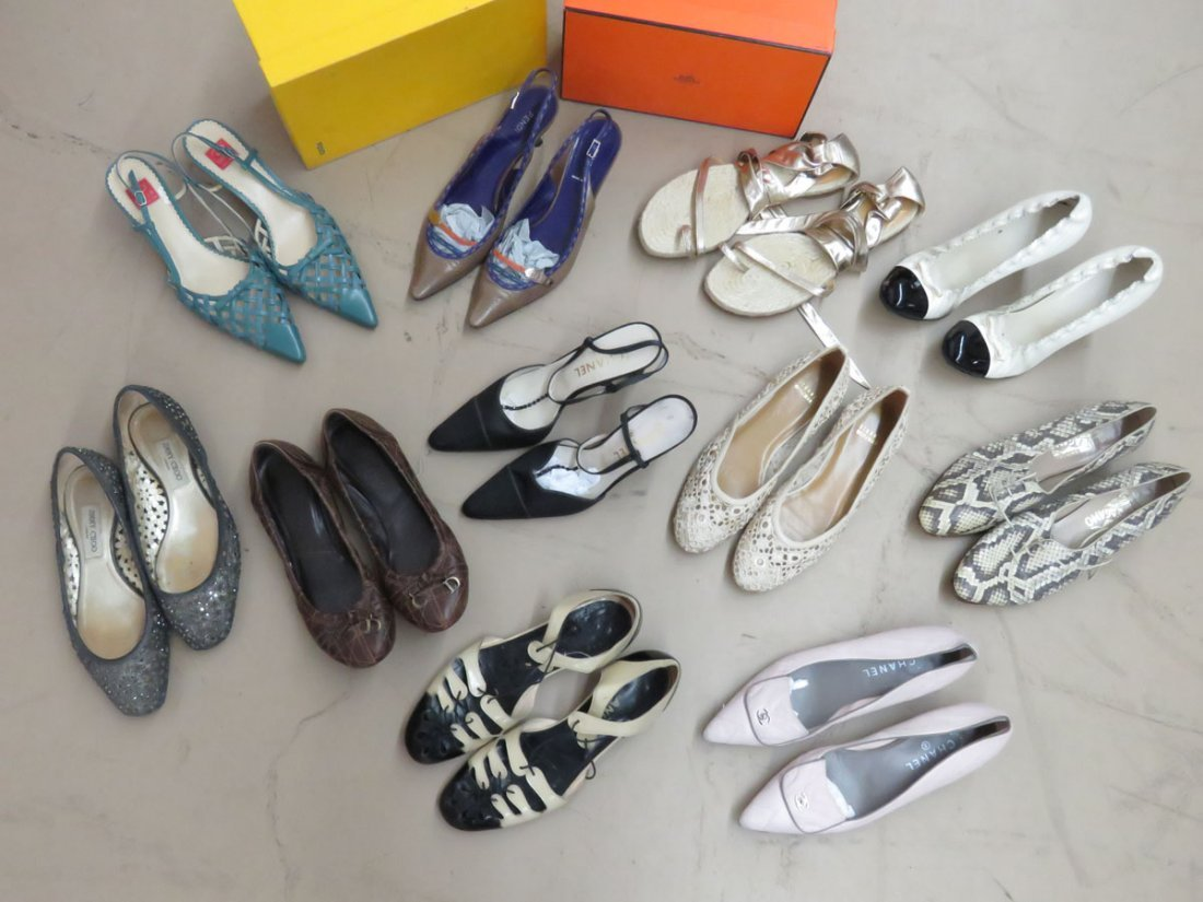11 PR VINTAGE DESIGNER SHOES INCL. OSCAR, FENDI, - 2