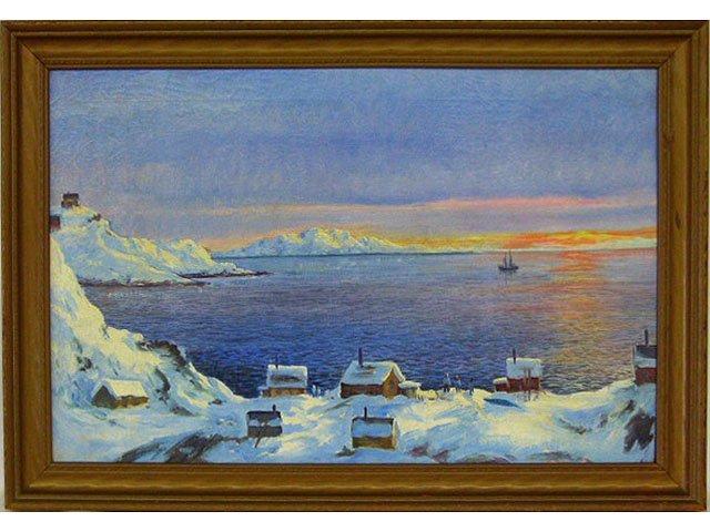 O/C ICELAND/GREENLAND SIGNED E. THORBJORN? 1950