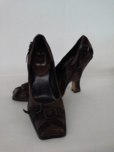 14 PR VINTAGE DESIGNER SHOES INCL. CHANEL, CHOO, ROSSI, - 3