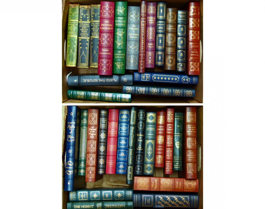 LOT ASSORTED EASTON PRESS LEATHER BOUND COLLECTORS