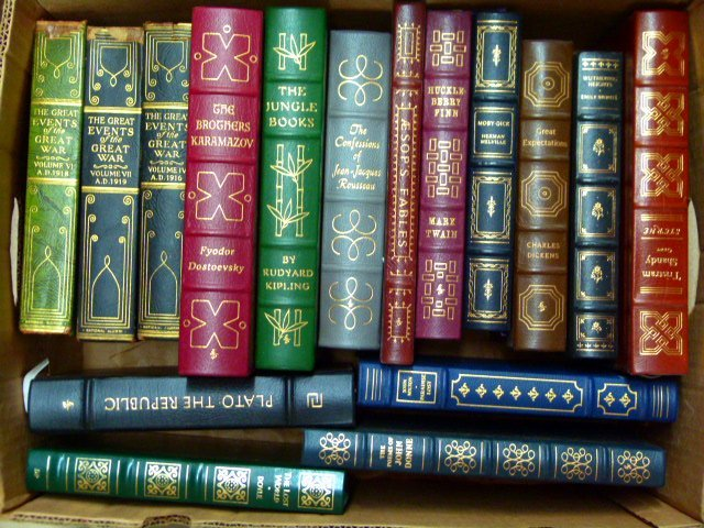 LOT ASSORTED EASTON PRESS LEATHER BOUND COLLECTORS - 2
