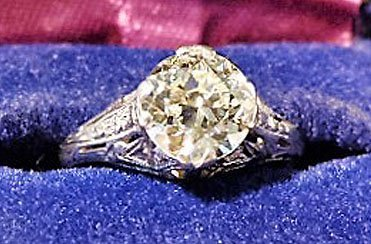ART DECO PLATINUM/DIAMOND RING W/OVER 1.8 CT. CENTER - 2