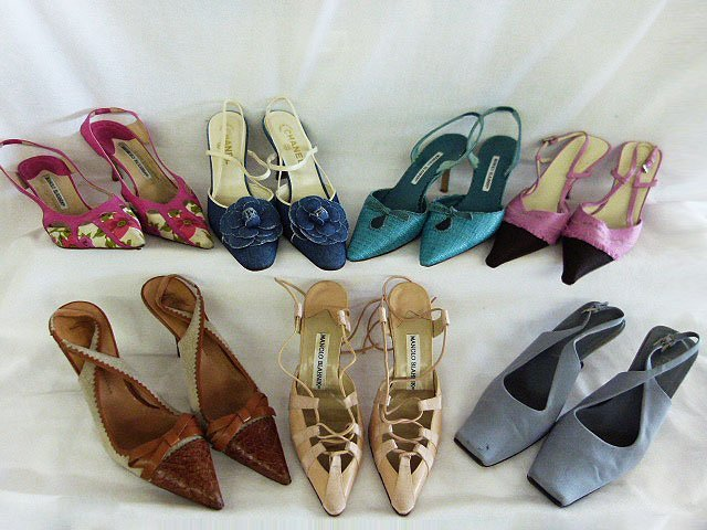 7 PR VINTAGE DESIGNER SHOES INCL. CHANEL, PRADA,