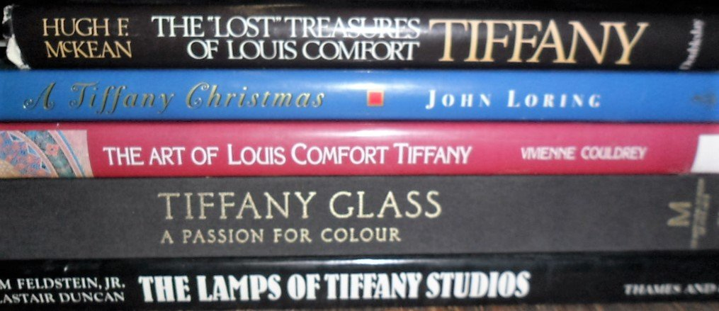 LOT (5) VOLUMES TIFFANY INCL. THE LOST TREASURES,