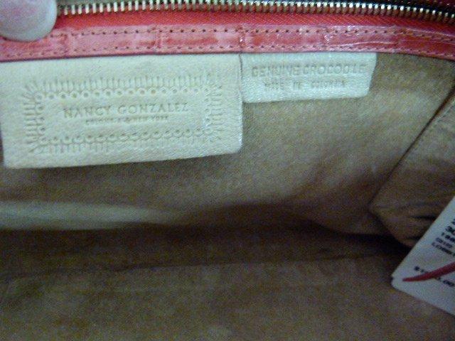VINTAGE NANCY GONZALEZ CROCODILE (TANGERINE) HANDBAG - 4