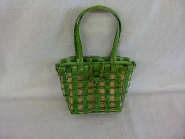 LOT (10) VINTAGE DESIGNER HANDBAGS INCL. CROC., STRAW, - 9