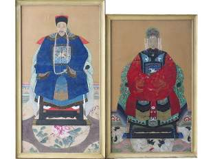 PR. W/C CHINESE ANCESTRAL PORTRAITS 19TH C.