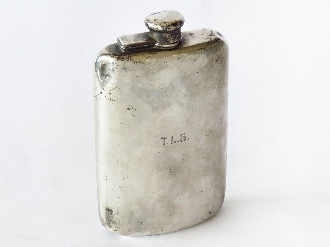 TIFFANY & CO. STERLING FLASK W/ MOORE HALLMARK 19TH C.