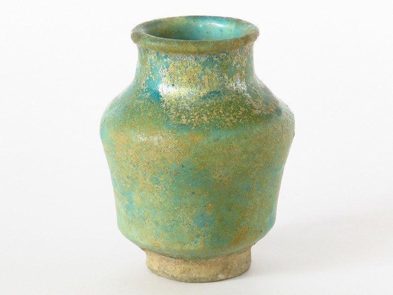 CHINESE HAN DYNASTY POTTERY/GREEN GLAZED VASE 206 BC