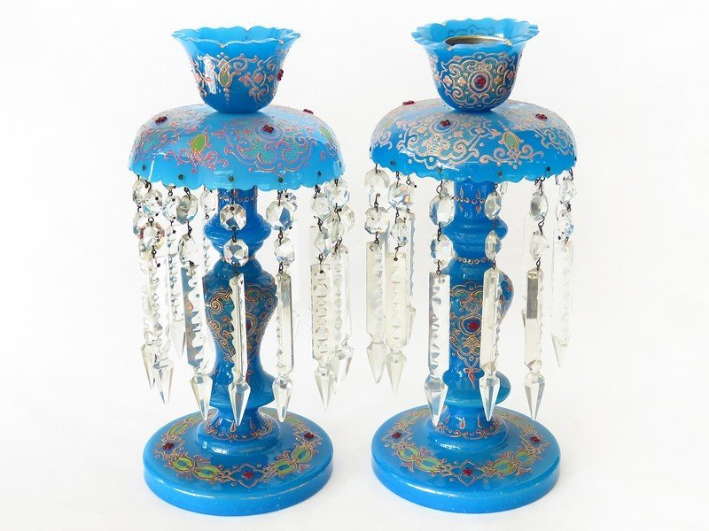 PR. FRENCH MANTLE CANDLE LUSTRES 19TH C.