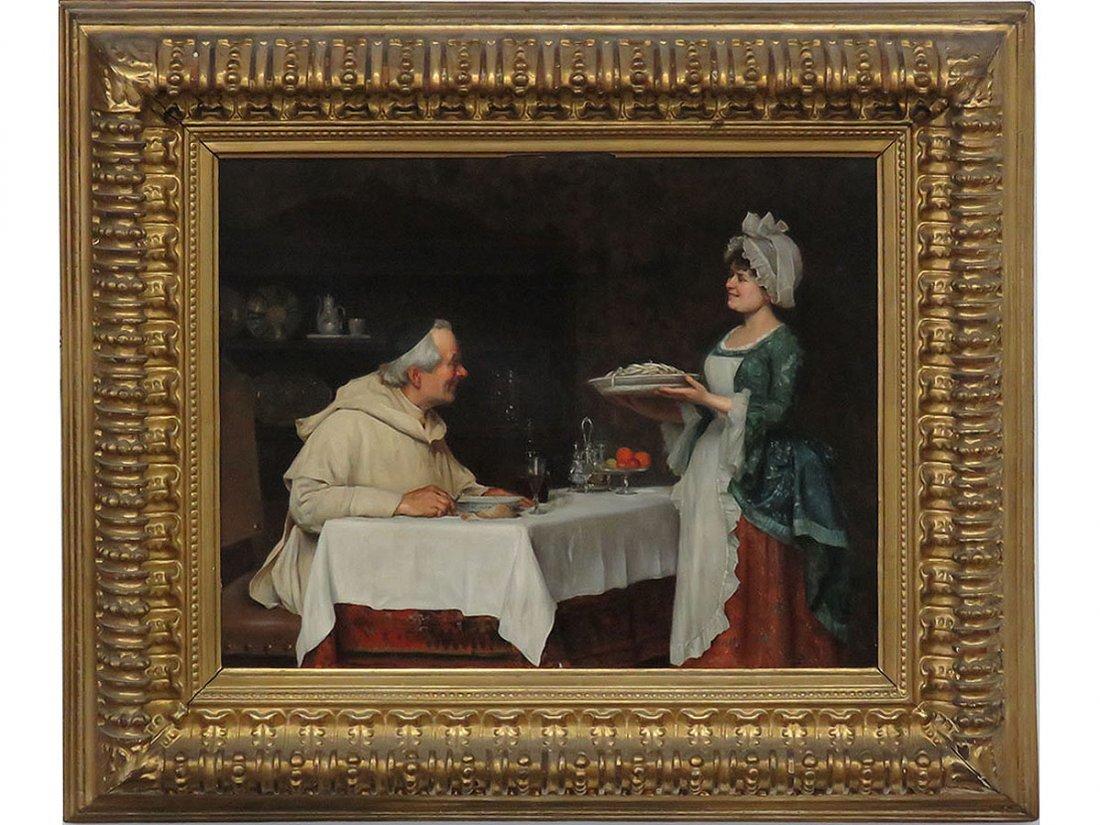 "O/C ""THE PASTA DINNER"" A. SANI (ALESSANDRO 1856-1927)"