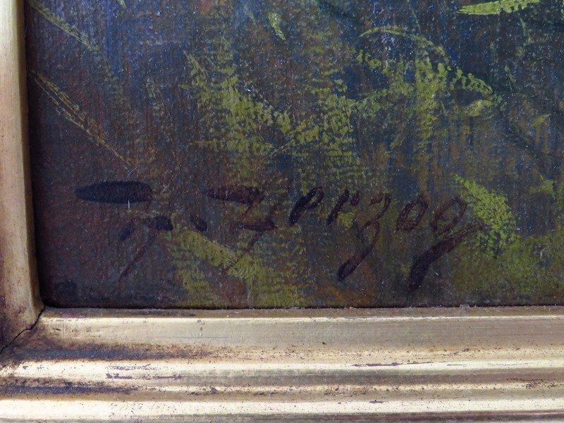 "O/C ""ROYAL PALMS"", HERMANN HERZOG, SIGNED / LABELED - 3"