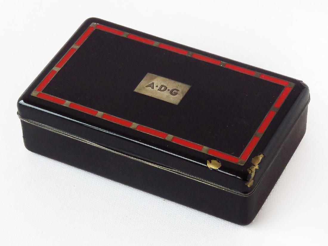 TIFFANY & CO. STERLING/ENAMELED CIGARETTE BOX C. 1920