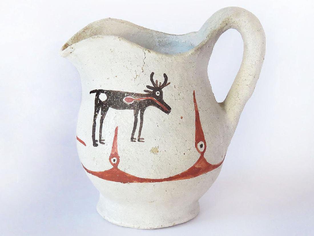 ACOMA AMERICAN INDIAN PAINTED/POTTERY PITCHER 19TH C.