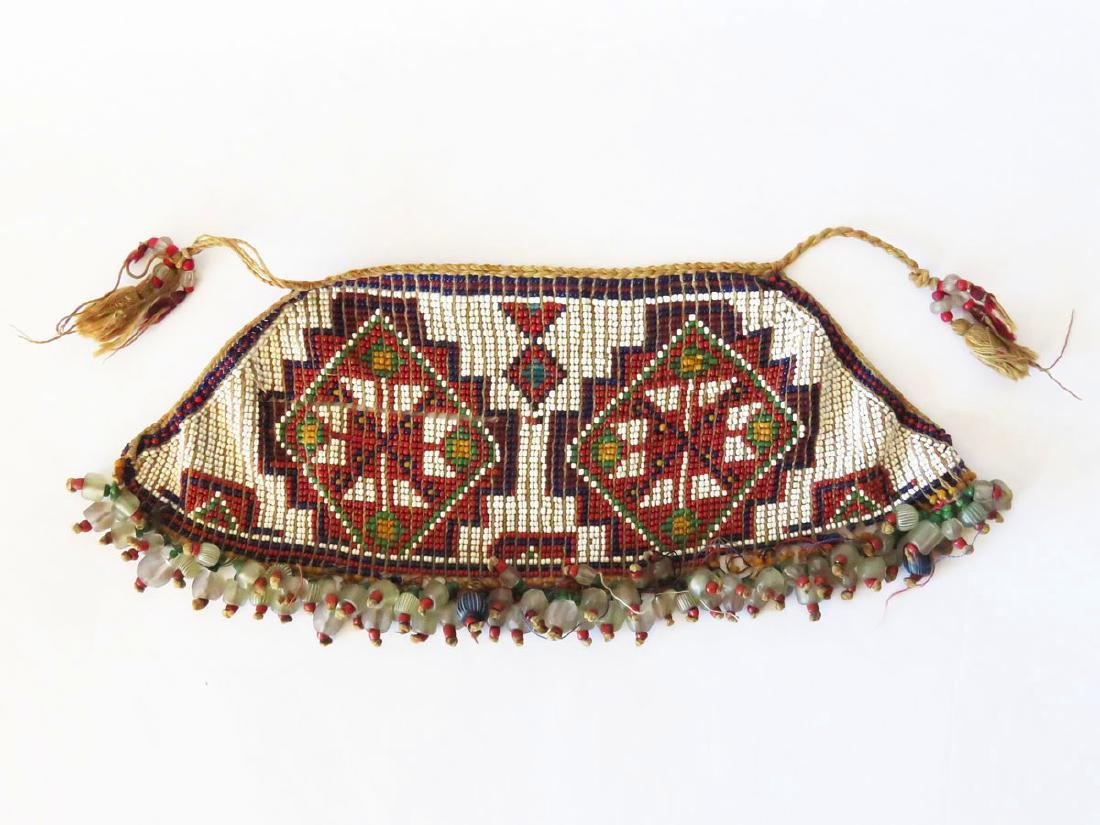 FINE  AMERICAN INDIAN SINEW/BEADED NECKLACE 19thc.