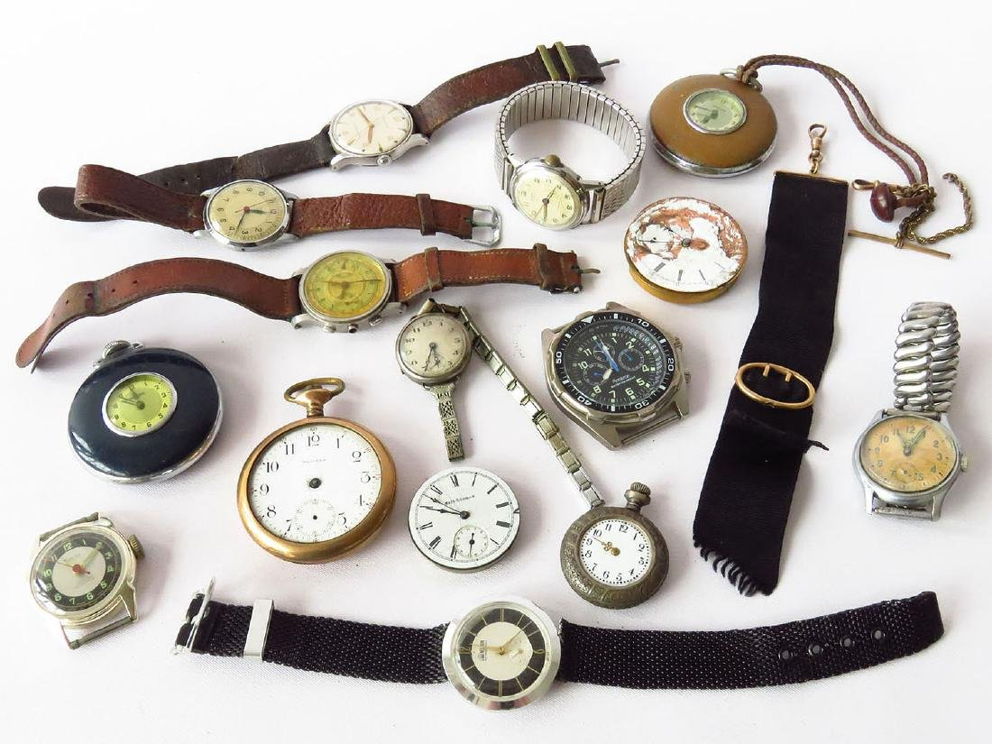 LOT ASSORTED VICTORIAN/ART DECO GOLD/SILVER WATCHES