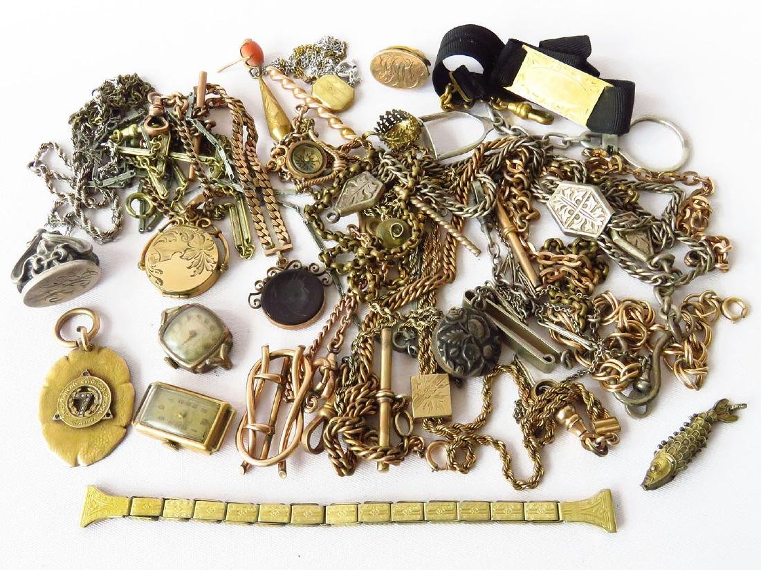 LOT ASSORTED VICTORIAN/ART DECO WATCHES/WATCH FOBS