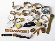 LOT ASSORTED WATCHES 1014 KT GOLD