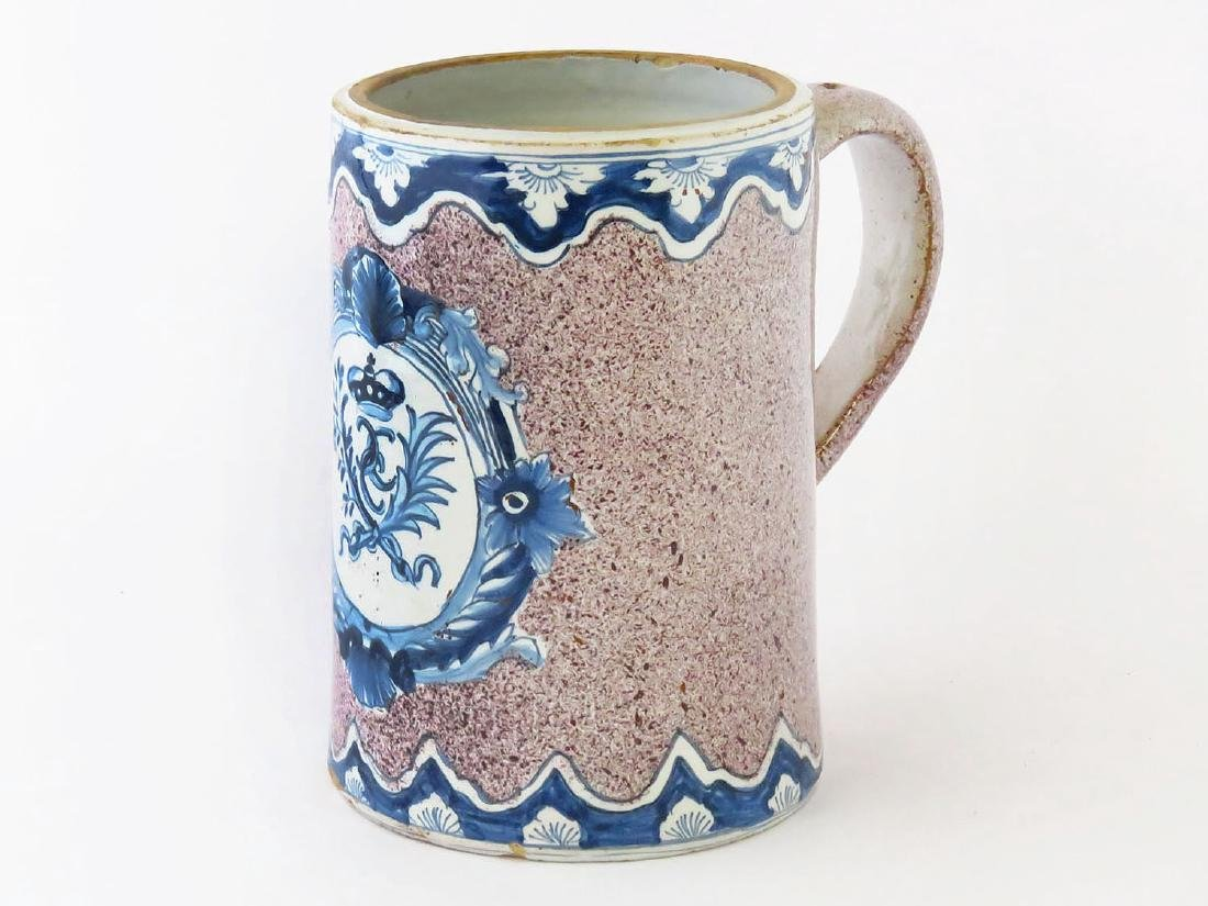 DELFT FAIENCE POTTERY STEIN 17/18TH C.
