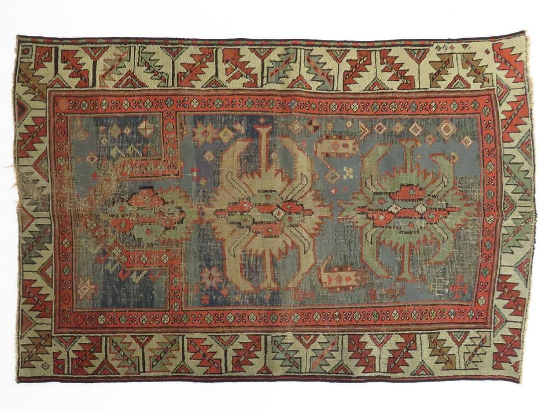KAZAK ORIENTAL RUG 19TH C. (PRAYER)