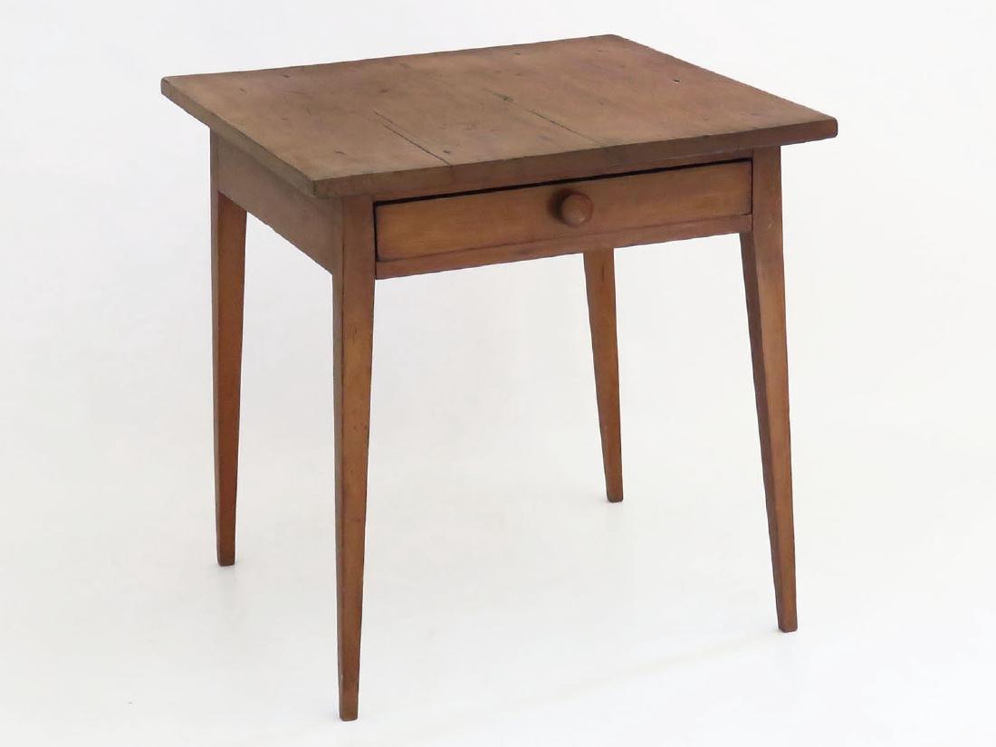 COUNTRY PINE SPLAY LEG TABLE W/ DRAWER