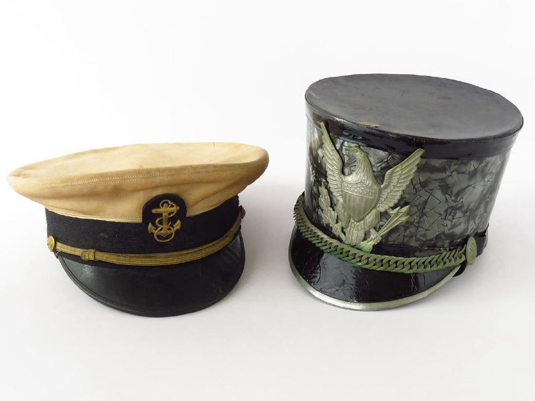 LOT (2) MILITARY HATS, WEST POINT/US NAVEL AIR STATION