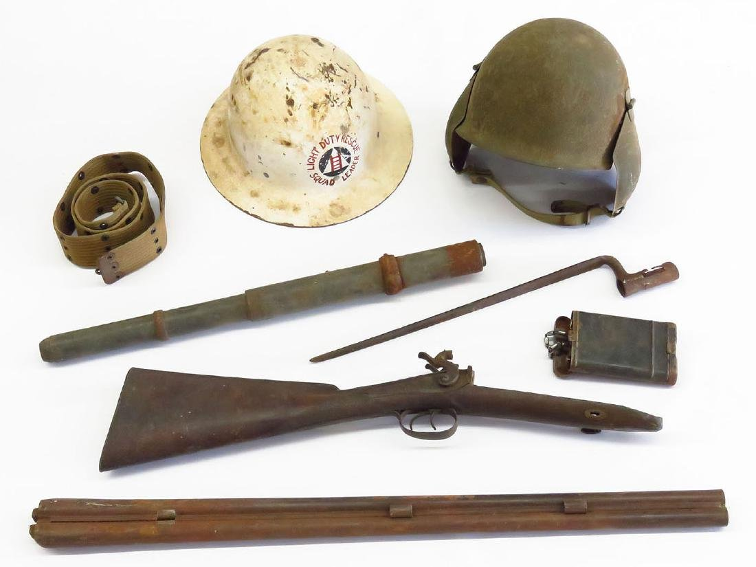LOT INCL. (2) WWII US ARMY HELMETS