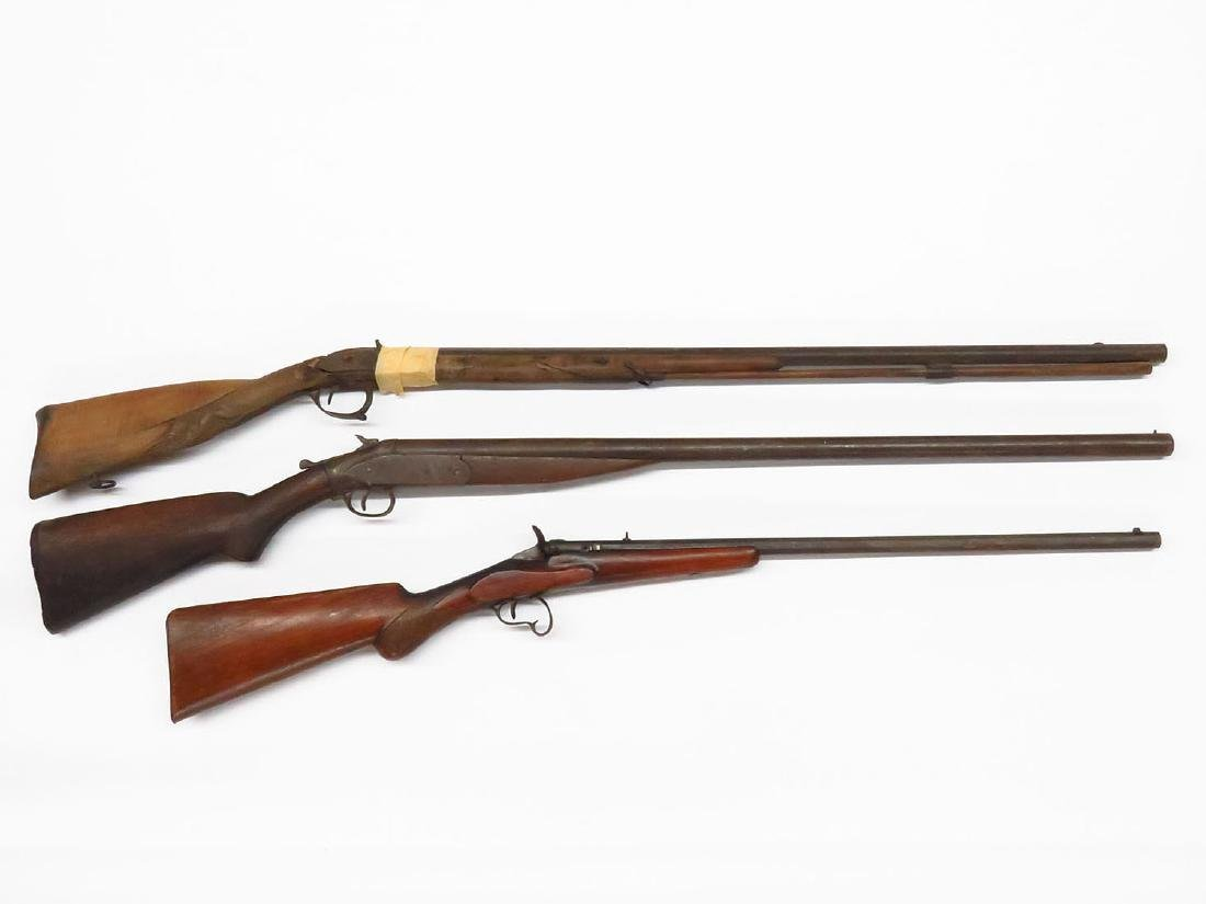 LOT 3 EARLY RIFLES/SHOTGUNS (AS-IS/ WALL HANGERS/PARTS)
