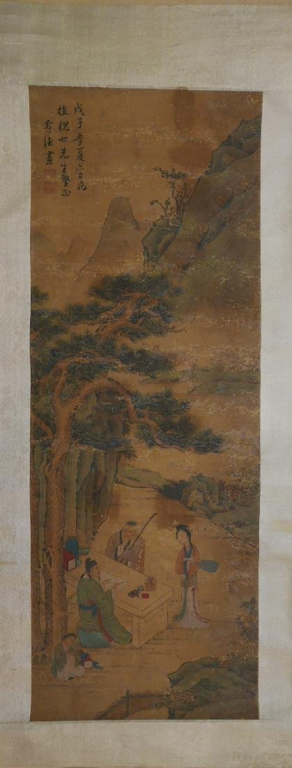 HUANG, SHEN (1687 - 1772) CHINESE WATERCOLOR PAINTING