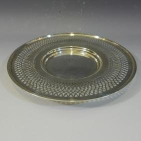STERLING SILVER RETICULATED PLATE - 190 GRAMS