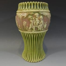 ROSEVILLE DONATELLO POTTERY VASE