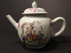 Antique Chinese Large Famille Rose Teapot, Qianlong