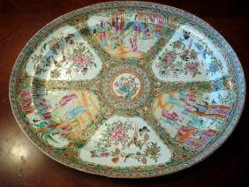 "ANTIQUE Chinese Rose Medallion Platter, 18 1/2"" long,"