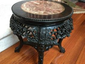 ANTIQUE Chinese Hardwood Flower Stand, late 19th