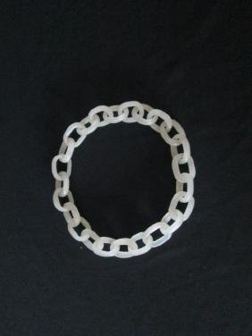 OLD Chinese White Jade Bracelet
