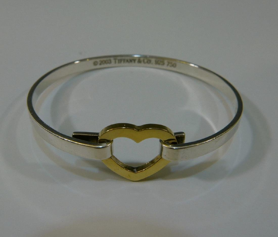 TIFFANY & CO 18K GOLD STERLING HEART BRACELET