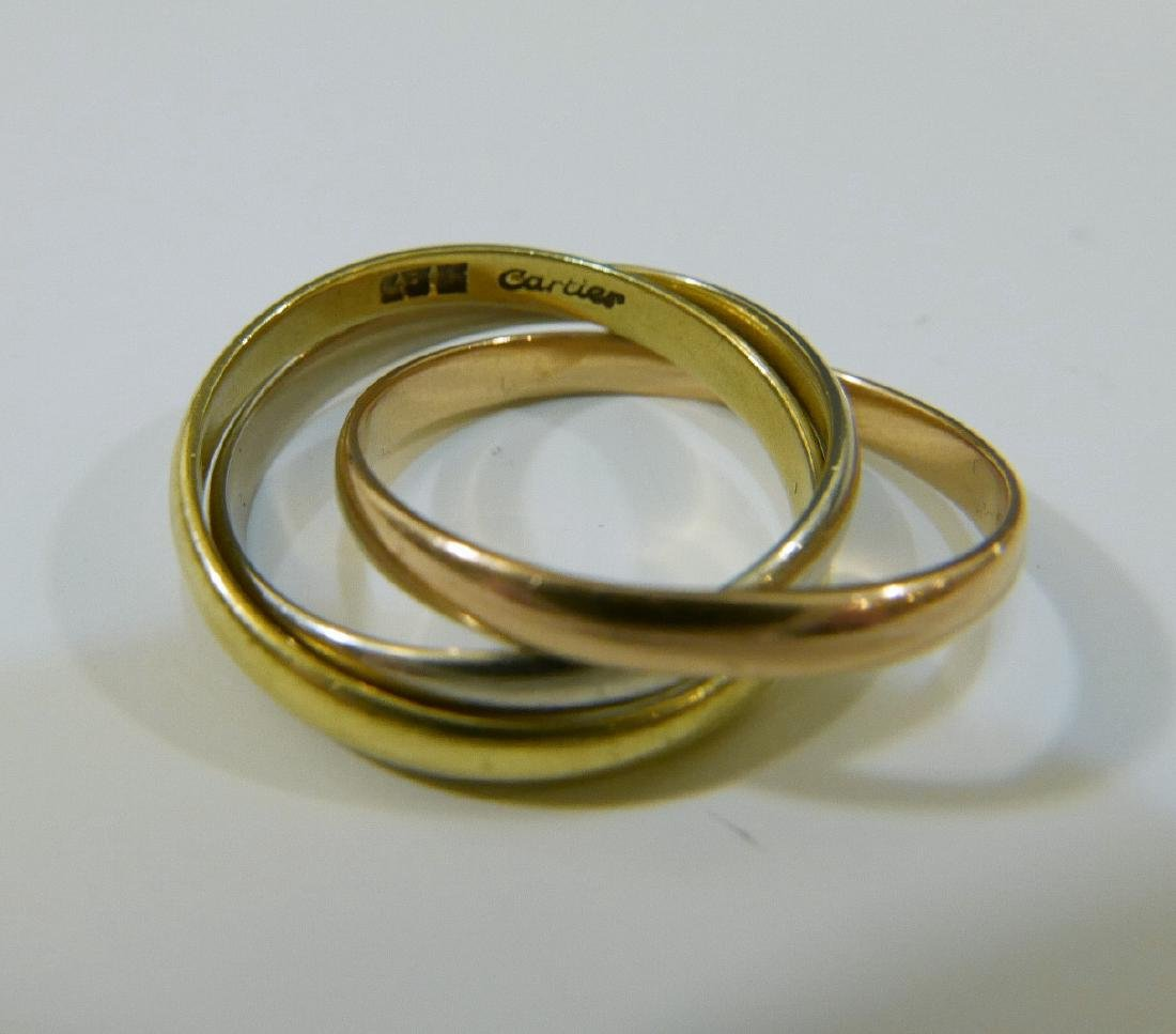 18K GOLD CARTIER TRINITY RING
