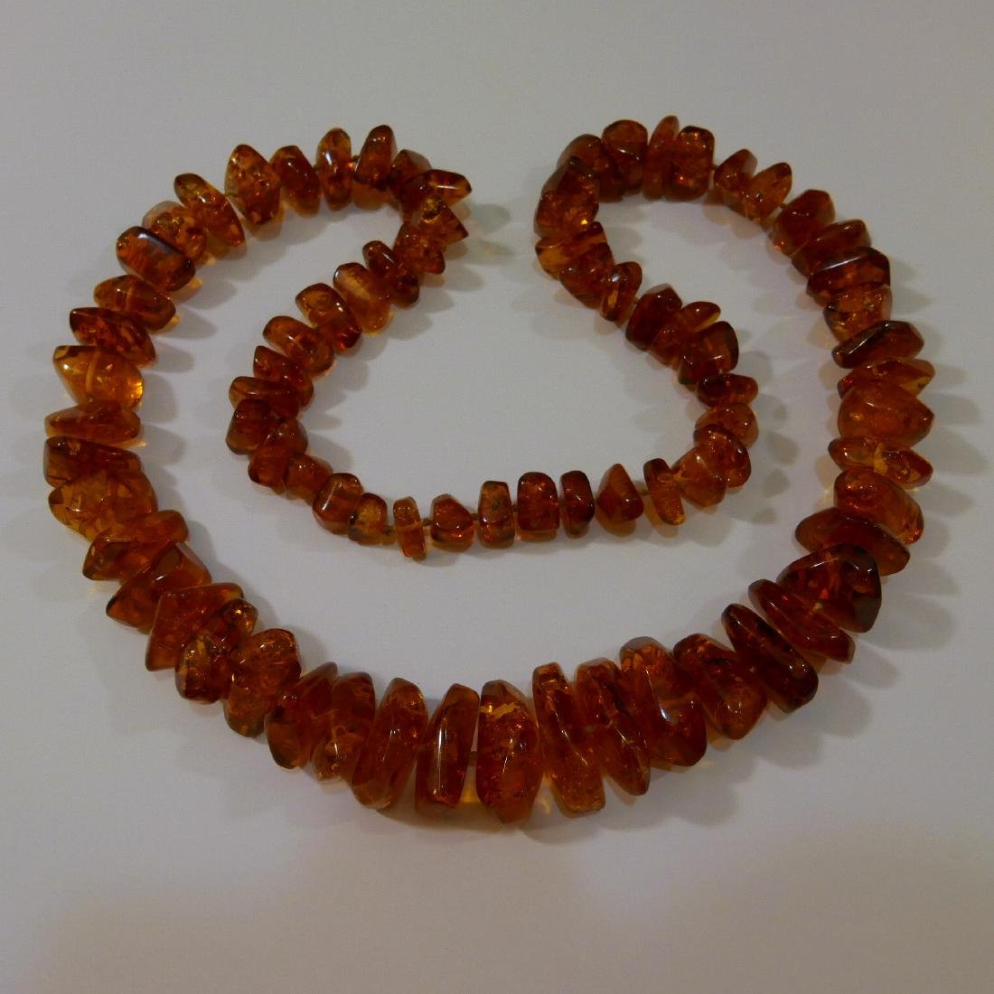 NATURAL AMBER NECKLACE - 94 GRAMS