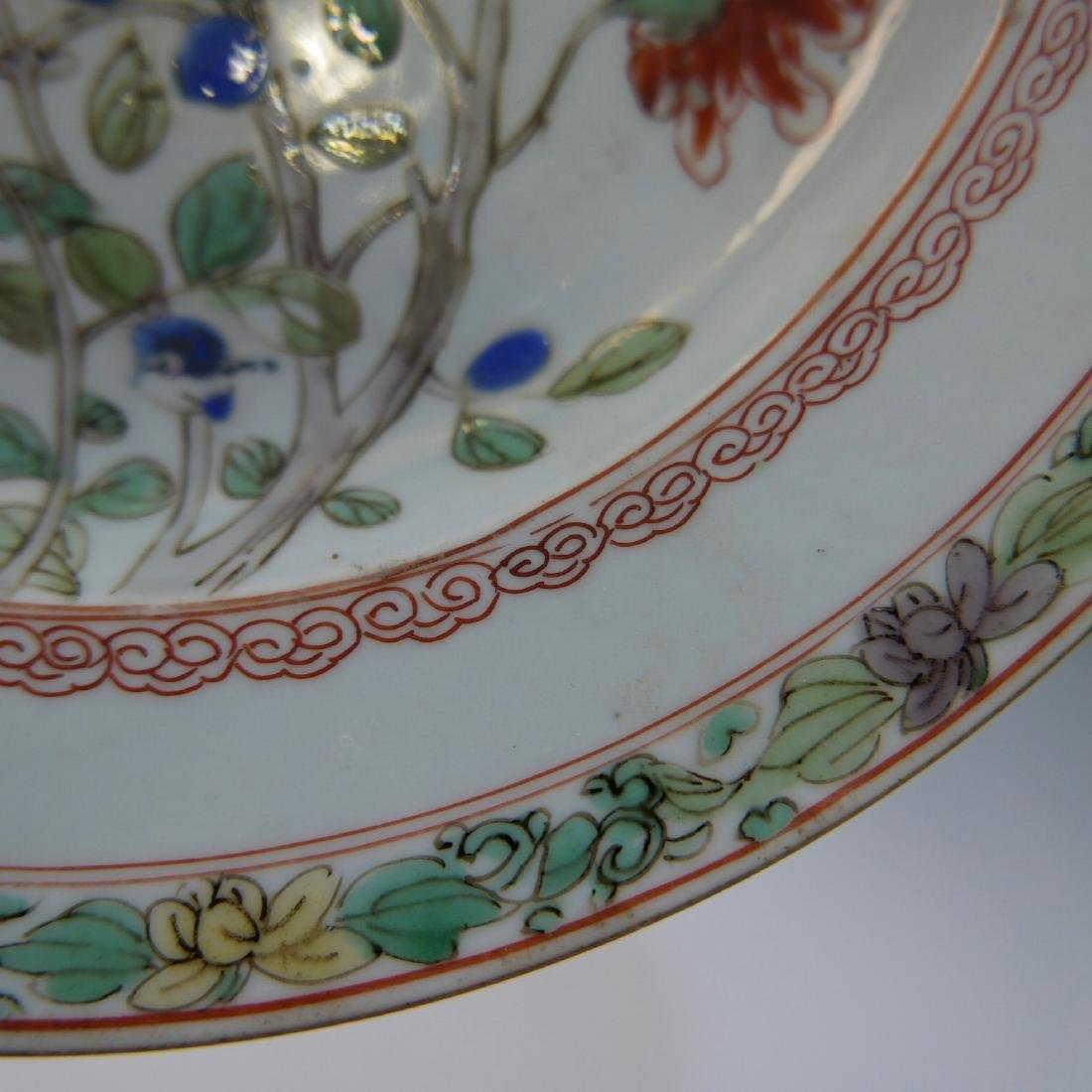 CHINESE ANTIQUE FAMILLE ROSE PORCELAIN PLATE - 17TH - 7