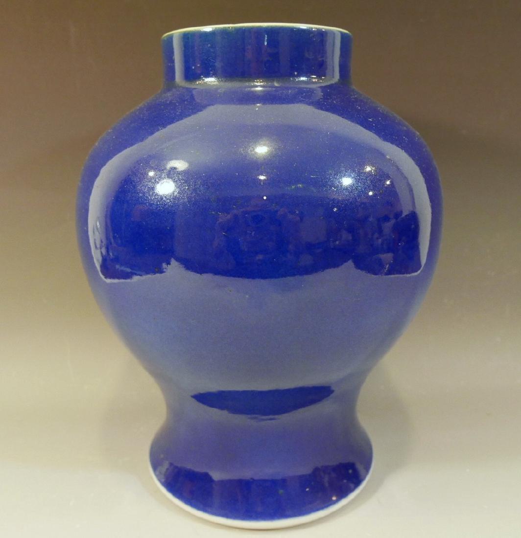IMPORTANT CHINESE BLUE GLAZE PORCELAIN JAR - KANGXI