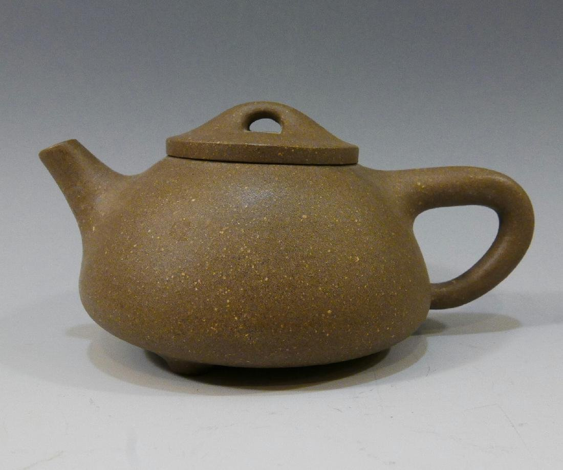 CHINESE ANTIQUE YIXING TEAPOT - MARKED