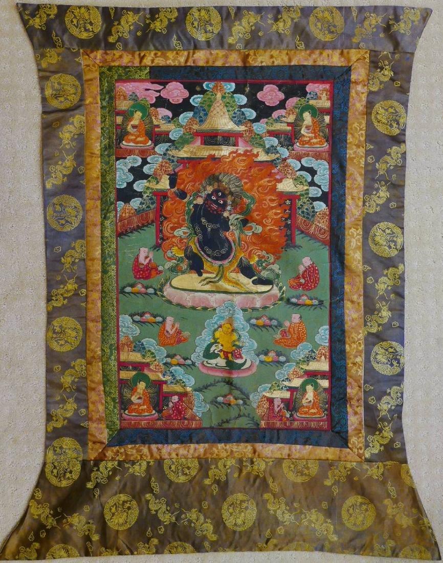 TIBETAN ANTIQUE THANGKA - 19TH CENTURY