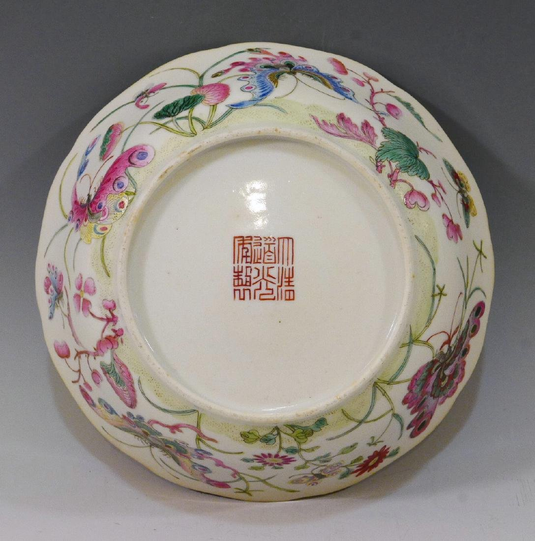 CHINESE ANTIQUE FAMILLE ROSE BOWL - DAOGUANG MARK AND