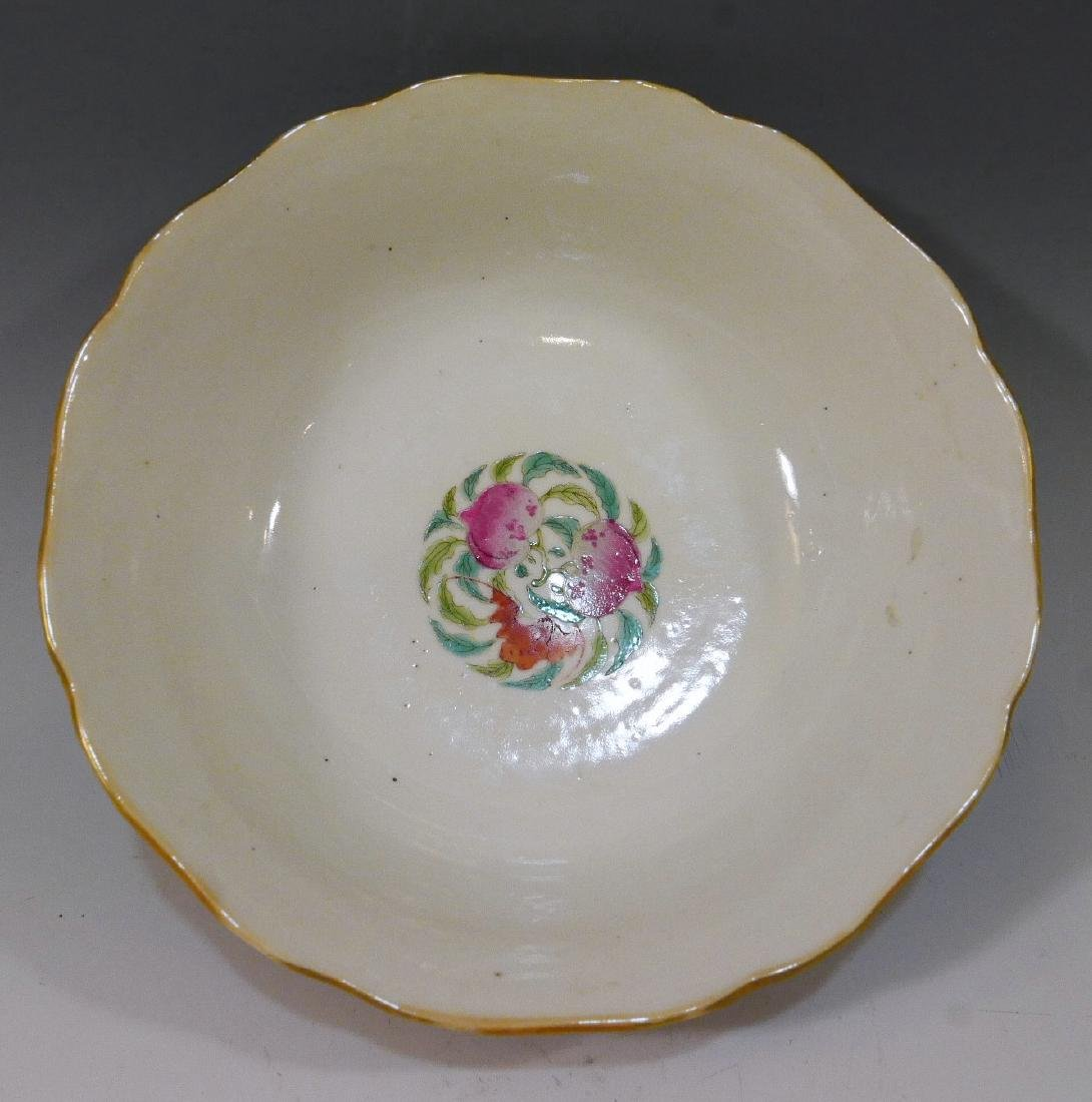 CHINESE ANTIQUE FAMILLE ROSE BOWL - DAOGUANG MARK AND - 2
