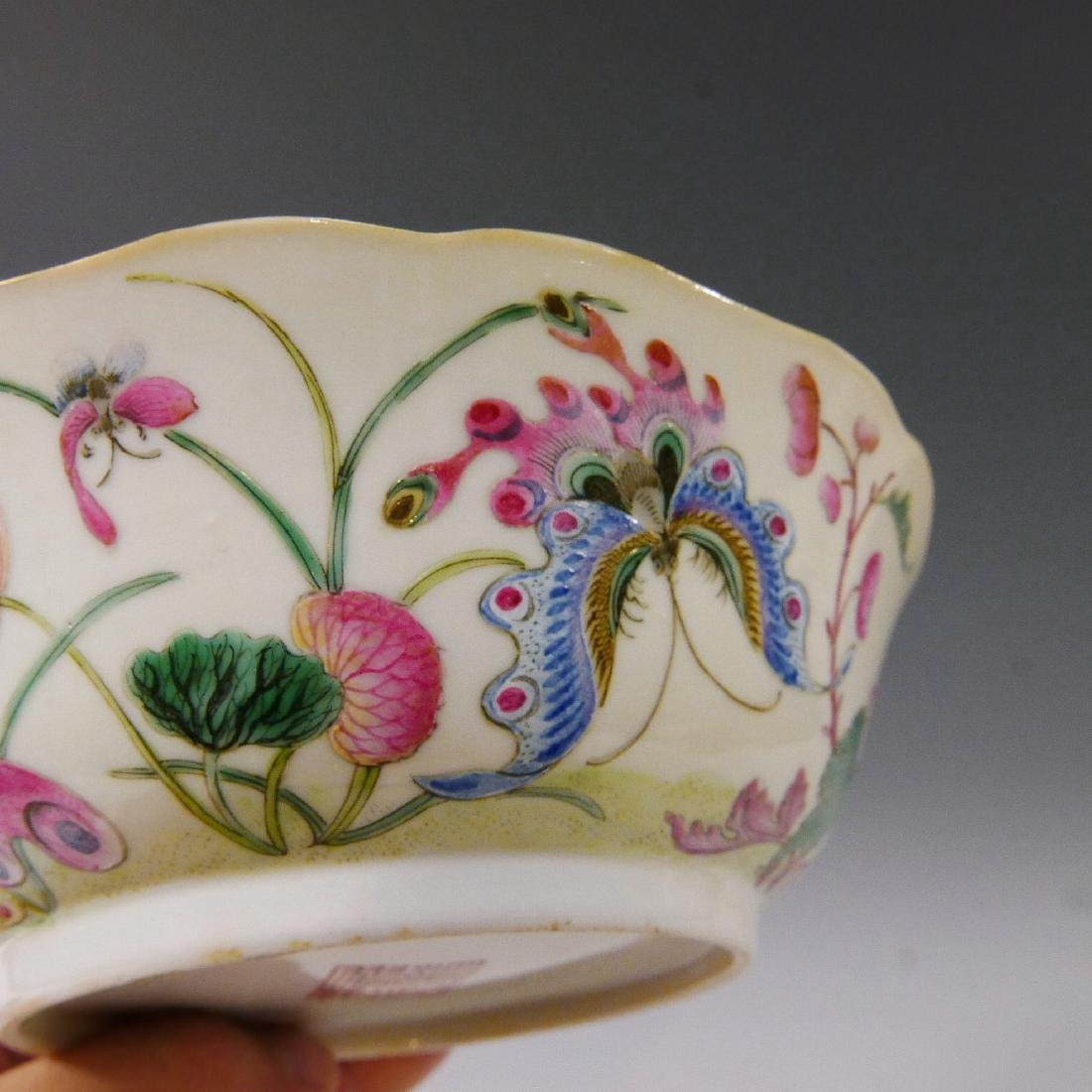 CHINESE ANTIQUE FAMILLE ROSE BOWL - DAOGUANG MARK AND - 4