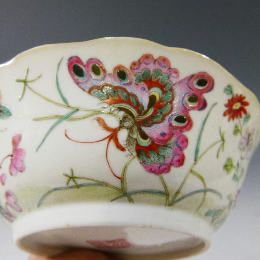 CHINESE ANTIQUE FAMILLE ROSE BOWL - DAOGUANG MARK AND - 6